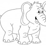 Elephant Coloring Page Images