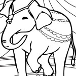 Elephant Coloring Page Picture