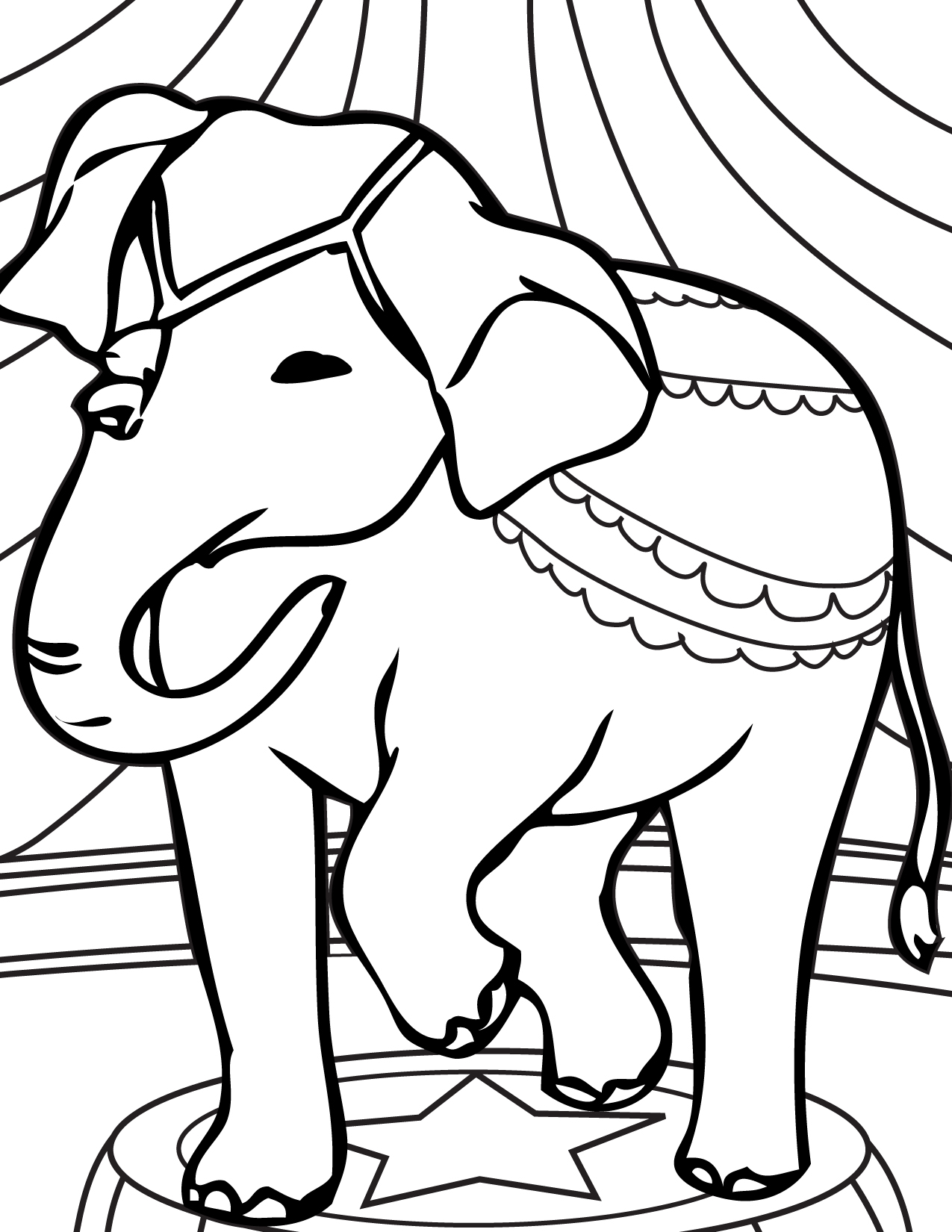 Circus Animals Coloring Pages 56 | Free Printable Coloring Pages ... | 1650x1275