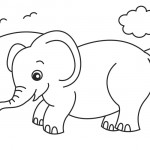 Elephant Coloring Page Pictures
