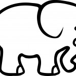 Elephant Coloring Page for Kids Images