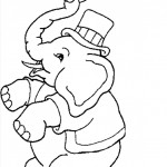 Elephant Coloring Page for Kids Photo