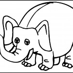 Elephant Coloring Page for Kids Picture