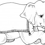 Elephant Coloring Pages for Kids Image