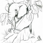 Elephant Coloring Pages for Kids Photo