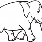 Elephant Coloring Pages for Kids Picture