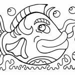 Fish Coloring Page Image