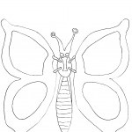 Free Butterfly Coloring Page Image