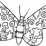 Image of Free Butterfly Coloring Page