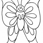 Picture of Free Butterfly Coloring Page