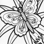 Pictures of Free Butterfly Coloring Page