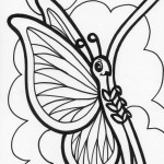 Image of Free Butterfly Coloring Page for Kids