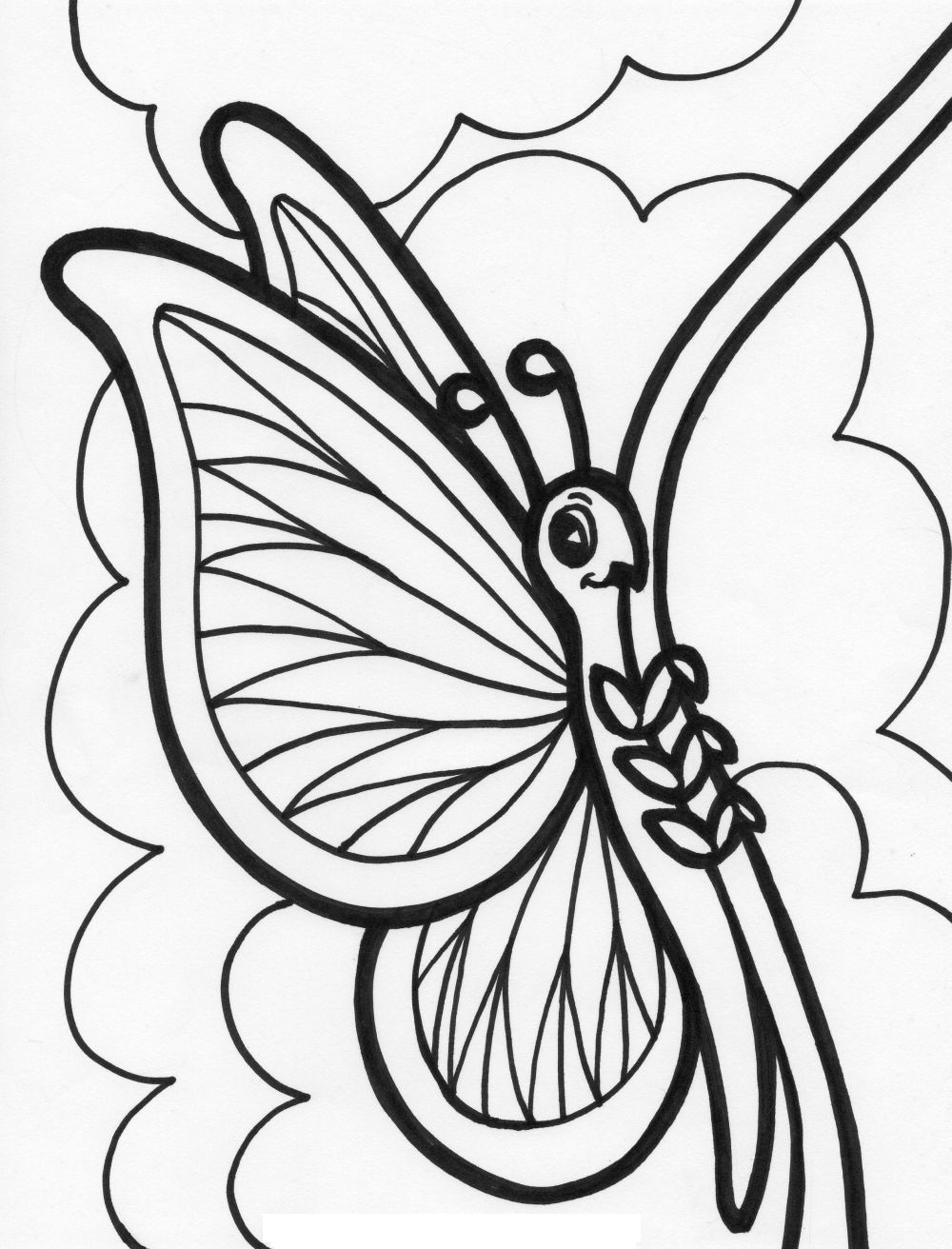 Free printable butterfly coloring pages for kids animal for Butterfly coloring pages