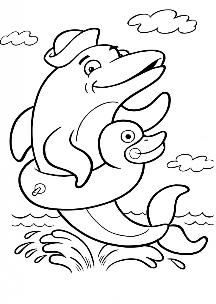 Free Dolphin Coloring Pages for Kids - Animal Place