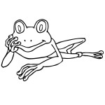 Frog Coloring Page for Kids Image
