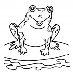 Frog Coloring Page for Kids Photo