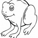 Frog Coloring Page for Kids Picture