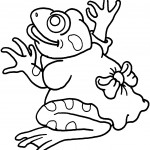 Frog Coloring Page for Kids Pictures