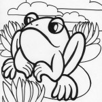 Frog Coloring Pages Photo