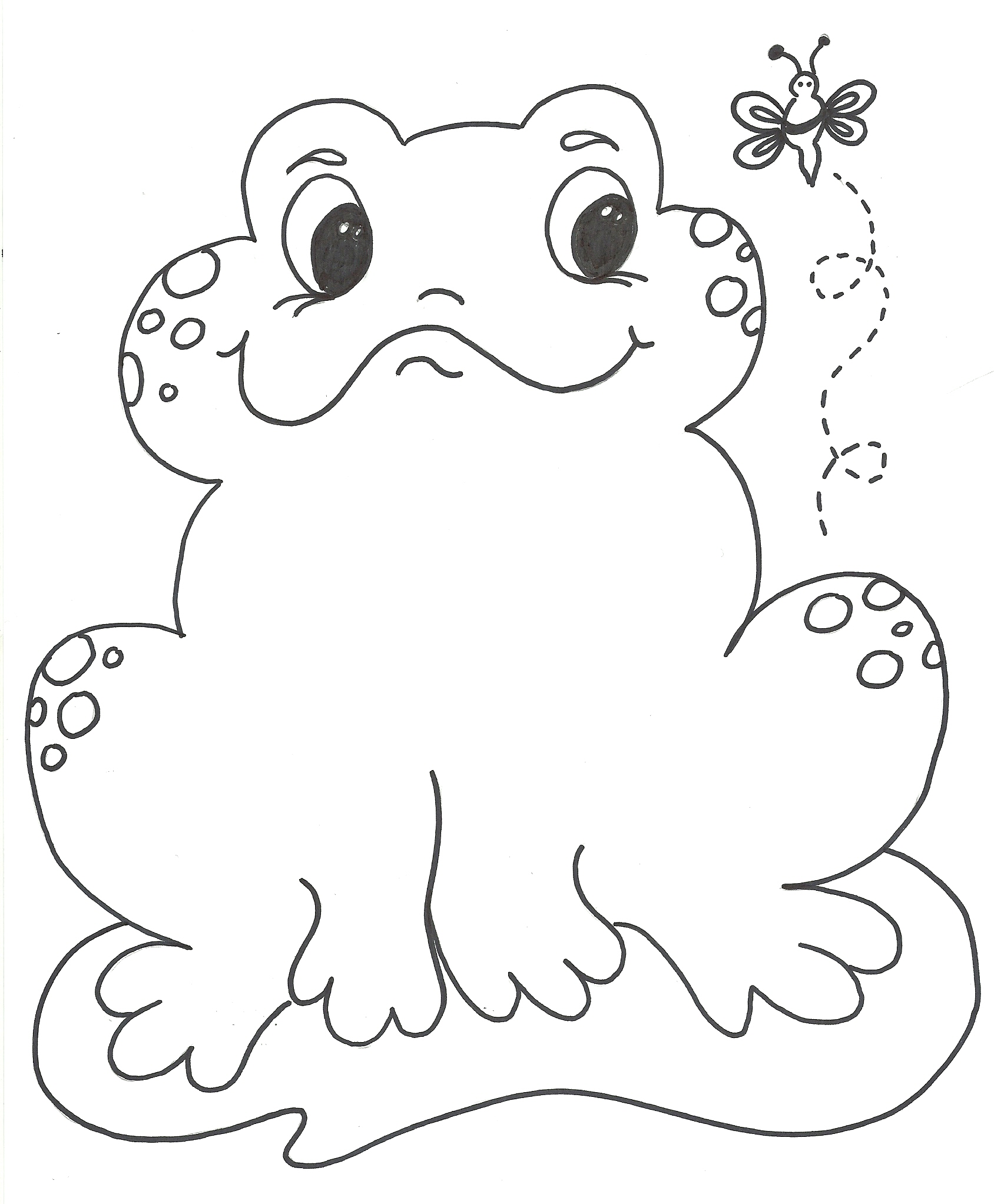 Free printable frog coloring pages for kids animal place for Free printable frog coloring pages