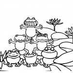Frogs Coloring Page