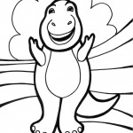 Funny Dinosaur Coloring Page Picture