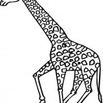Giraffe Coloring Page for Kids Image