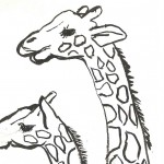 Giraffe Coloring Page for Kids Photos