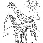 Giraffe Coloring Page for Kids Picture