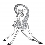 Giraffe Coloring Pages Image