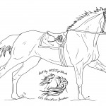 Image of Horse Coloring Page