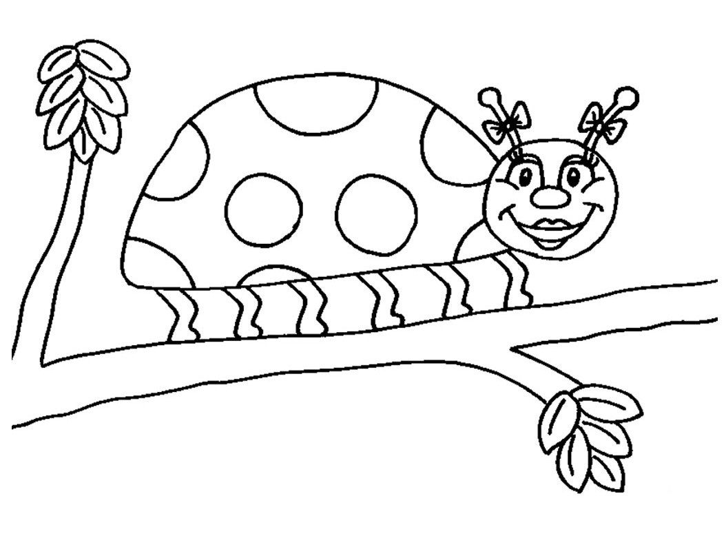Free printable ladybug coloring pages for kids animal place for Coloring pages of ladybugs