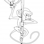 Monkey Coloring Page Images