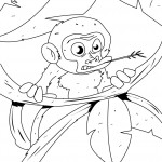Monkey Coloring Page Photos