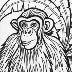 Monkey Coloring Page Picture