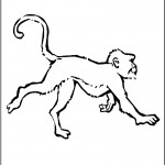 Monkey Coloring Page for Kids Pictures