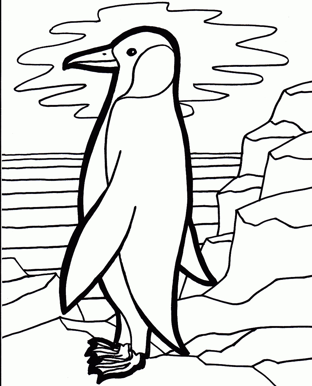 coloring pages of a penguin - free printable penguin coloring pages for kids animal place