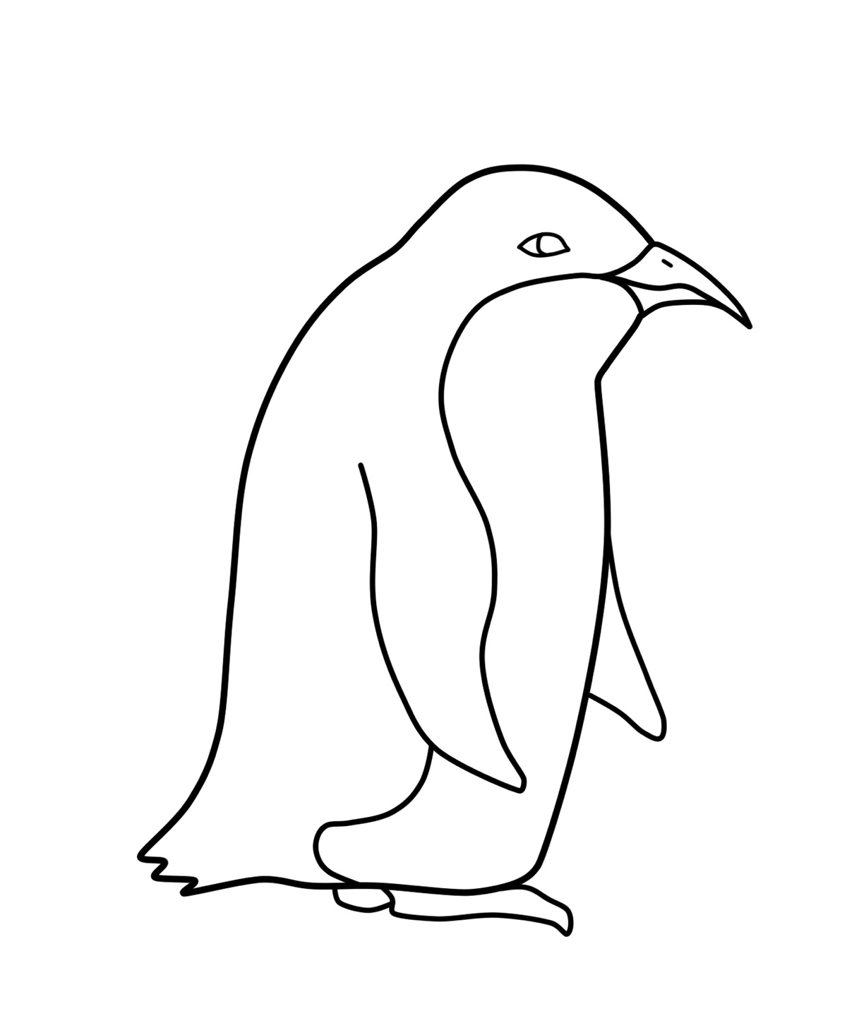 Free printable penguin coloring pages for kids animal place for Penguin coloring pages printable
