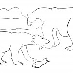 Polar Bear Coloring Page Picture