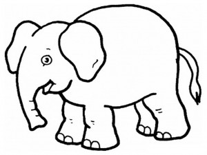printable elephant coloring page  animal place
