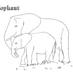 Printable Elephant Coloring Page Image