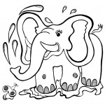 Printable Elephant Coloring Page Images