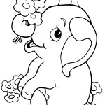 Printable Elephant Coloring Page Photo