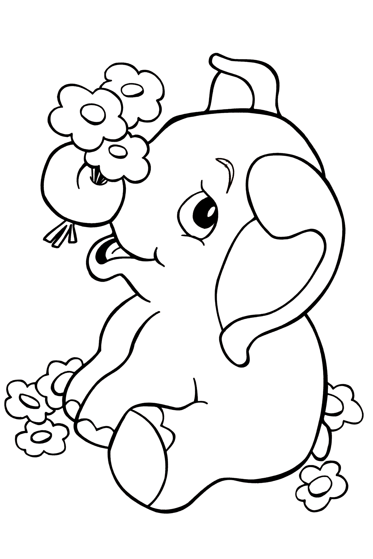 Free Coloring Pages Animals Elephants : Free printable elephant coloring pages for kids animal place