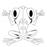 Printable Frog Coloring Page Image