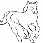Printable Horse Coloring Page Picture