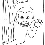 Printable Monkey Coloring Page