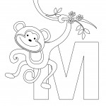 Printable Monkey Coloring Page Photo