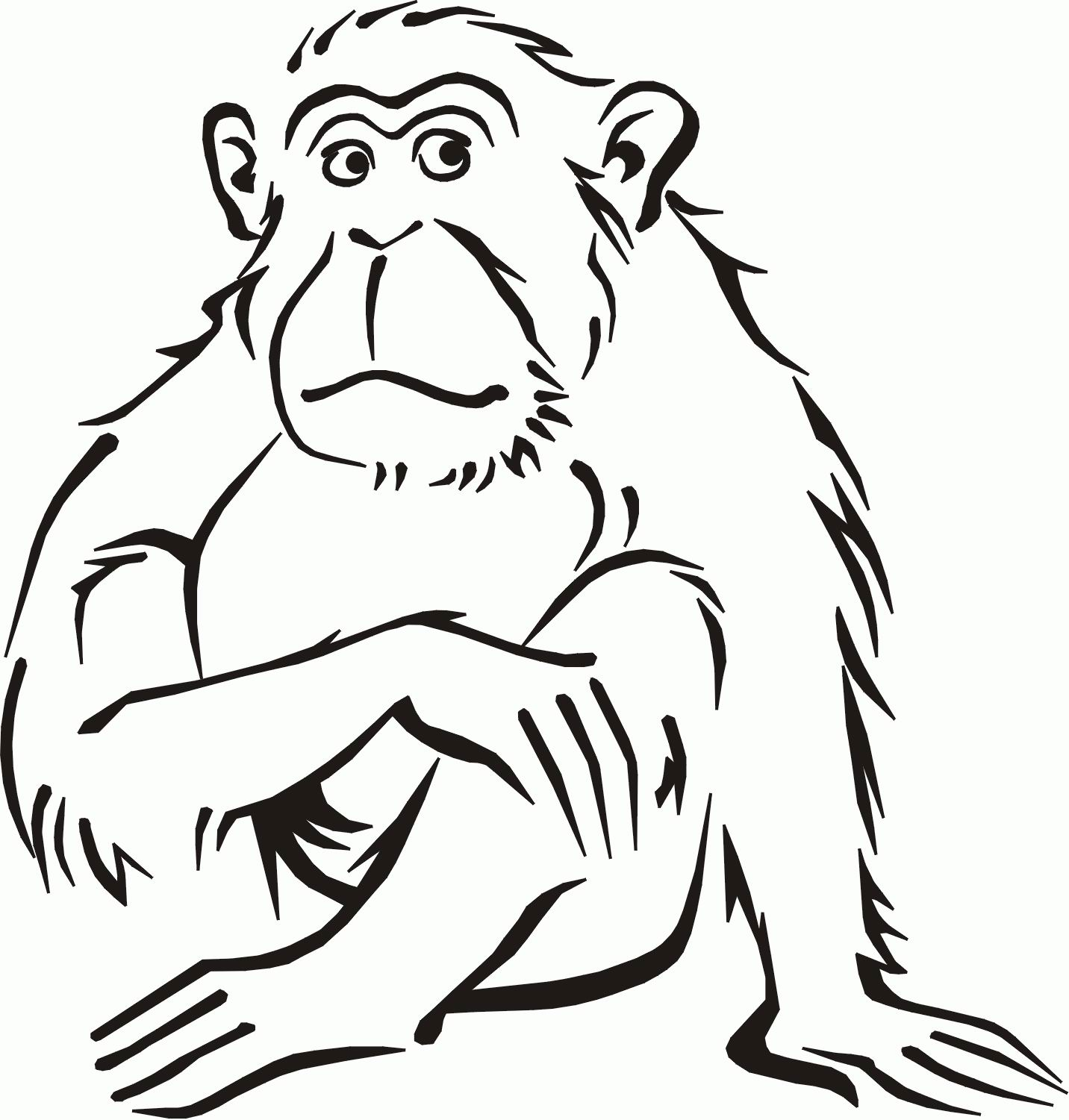 Free Printable Monkey Coloring Pages For Kids | Animal Place