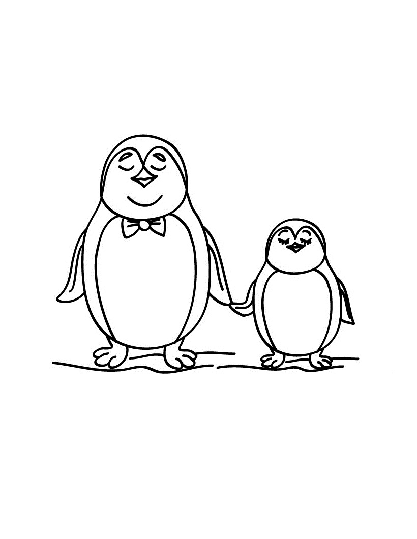 penguin printable coloring pages - free printable penguin coloring pages for kids animal place